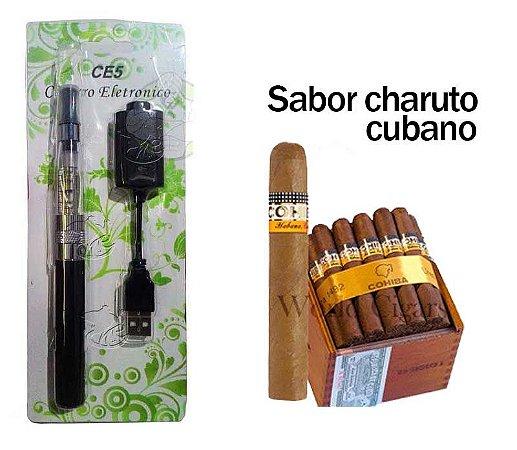 Narguile eletrônico Ce5 + líquido charuto cubano 05mg