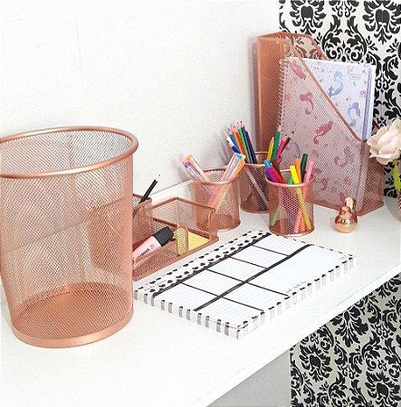Kit mesa escritório aramado 6 peças