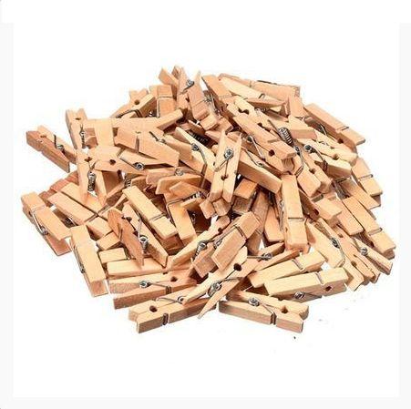 Pregadores de madeira 10 unidades