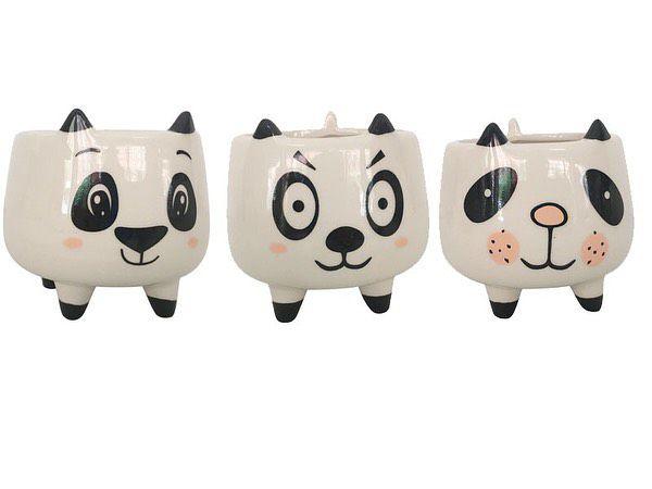 Cachepô vaso panda