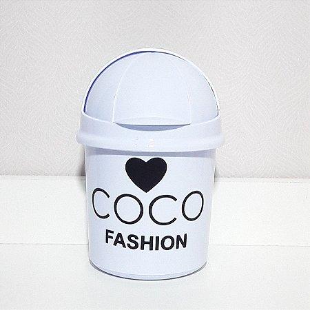Lixeira coco fashion
