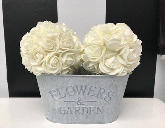 Flores rosa branca