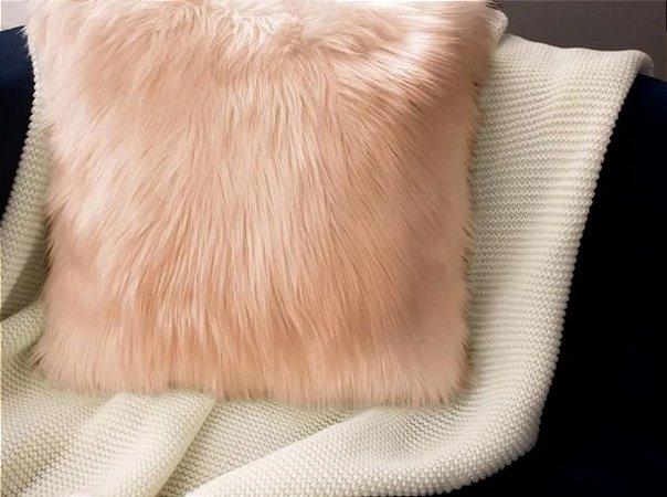 Capa almofada pelúcia alta rose