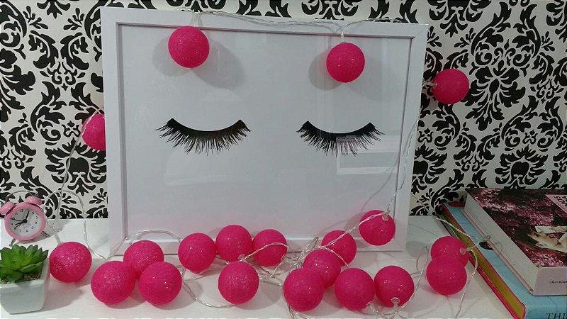 Luminária cordão de luz bolas pink - 20 bolas