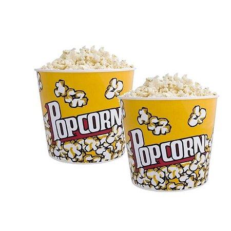 Balde de pipoca popcorn - kit 2 unidades