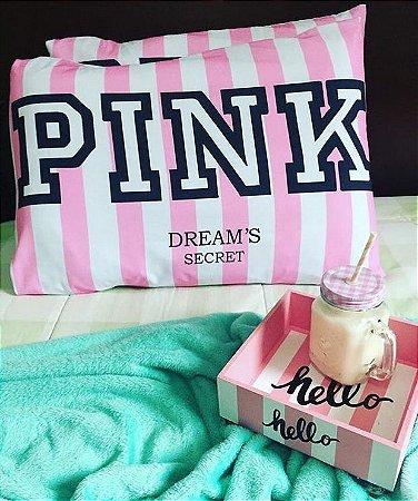 Fronha pink - kit 2 unidades