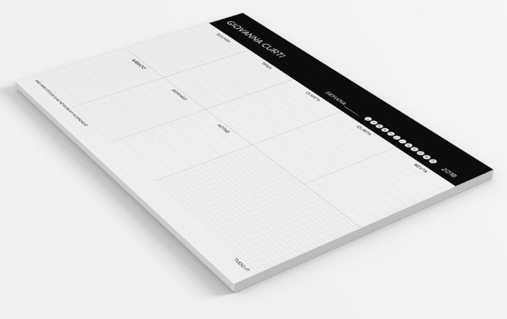 Planner de mesa semanal sucesso