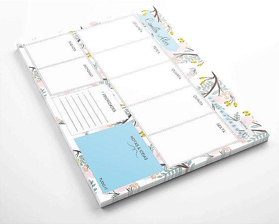 Planner de mesa semanal personalizado floristry 1