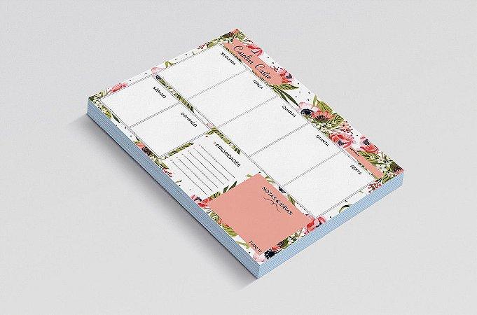 Planner de mesa semanal personalizado floristry 2