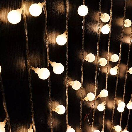 Luminária Cordão De Luz Com 20 Bolinhas