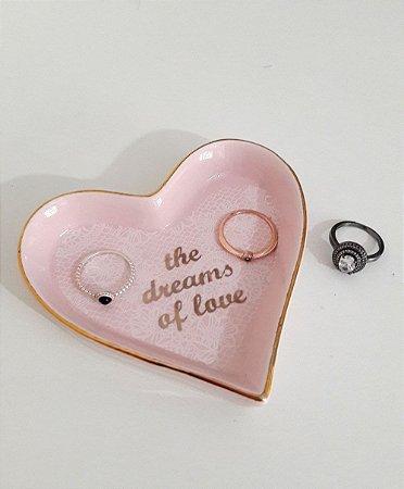 Pratinho coração rosa