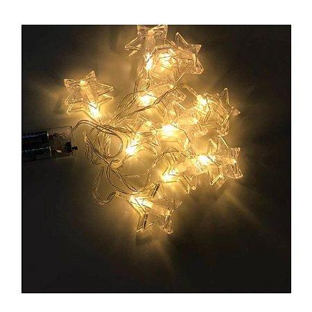 Luminária cordão de luz estrelas