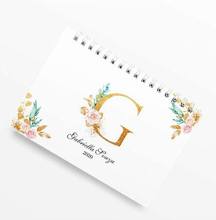 Planner Anual Letter Flower