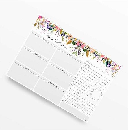 Planner Semanal Flower Blush