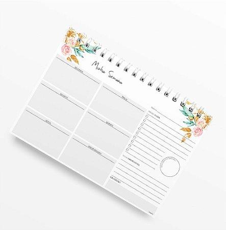 Planner Semanal Letter Flower