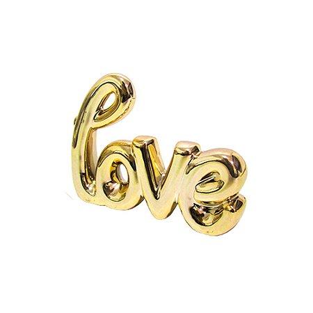 Love decorativo dourado
