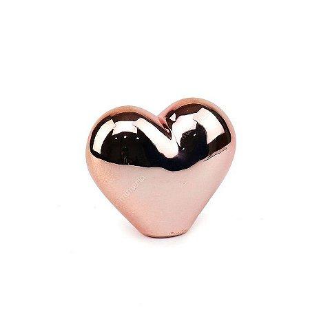 Coração rose gold decorativo