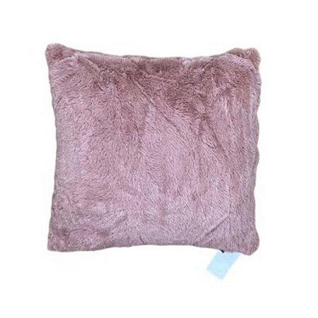 Almofada pelinho curto rosa antigo