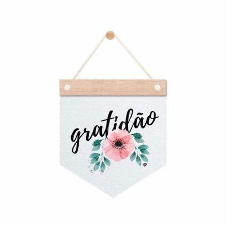 Flâmula Decorativa Gratidão
