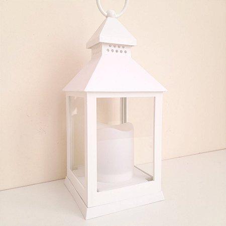 Lanterna Luminária Decorativa Porta Vela Led