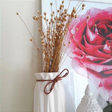 Flor natural sempre viva - Branca - Aprox. 80 flores