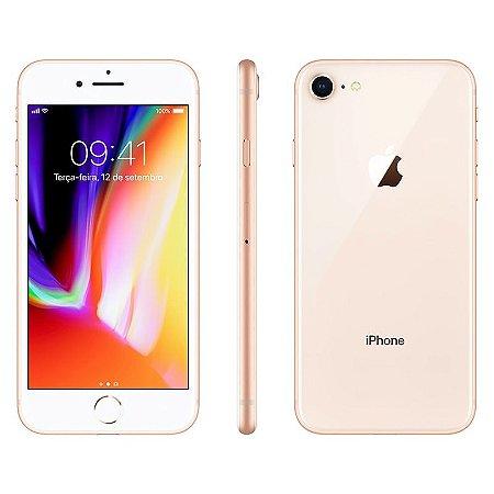 iPhone 8 256gb Apple 4G Desbloqueado Dourado - Lacrado Garantia Apple de 1 Ano