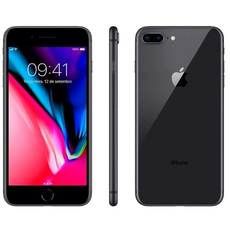 iPhone 8 Plus 256gb Apple 4G Desbloqueado Cinza Espacial - Lacrado Garantia Apple de 1 Ano