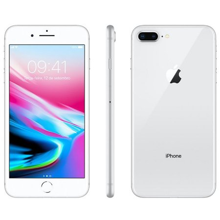 iPhone 8 Plus 256gb Apple 4G Desbloqueado Prateado - Lacrado Garantia Apple de 1 Ano