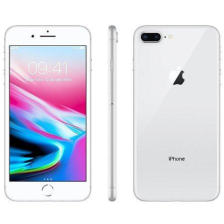 iPhone 8 Plus 256gb Apple 4G Desbloqueado Prateado - Lacrado Garantia Apple de 1 Ano