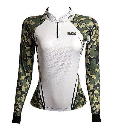 Camisa de Pesca Feminina Brk Military cpm fpu 50+
