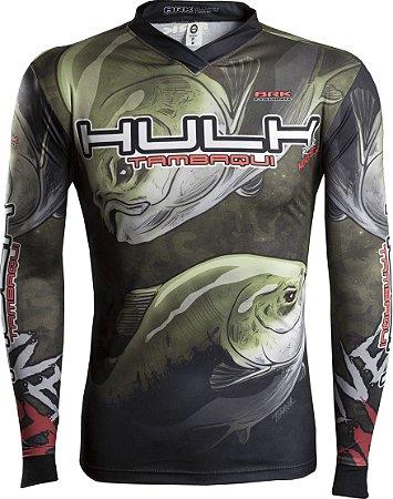 Camisa de Pesca Brk River Monster Tambaqui Hulk com fpu 50+