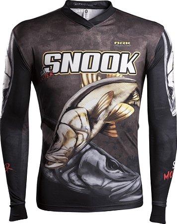 Camisa de Pesca Brk Sea Monster Robalo Snook GOLA V com fps 50+