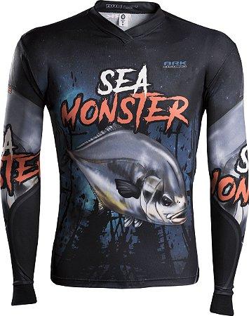 Camisa de Pesca Brk Sea Monster Pampo com fps 50+