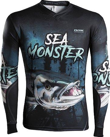 Camisa de Pesca Brk Sea Monster Barracuda com fpu 50+