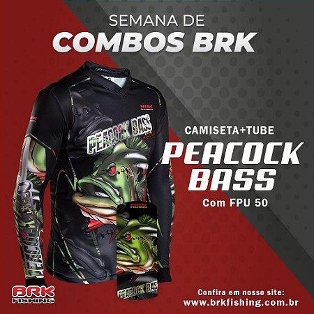 Combo 6 - Camiseta Peacock Bass + Tubeneck
