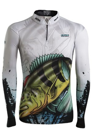 Camisa de Pesca Brk Combat Fish Tucunaré com fpu 50+