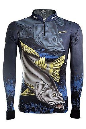 Camisa de Pesca Brk Master Combat Fish Robalo 1.0 com fpu 50+
