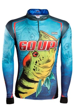 Camisa de Pesca Brk 60UP Azul com fps 50+