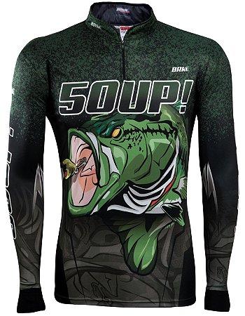 Camisa de Pesca Brk Black Bass 50UP! com fps 50+