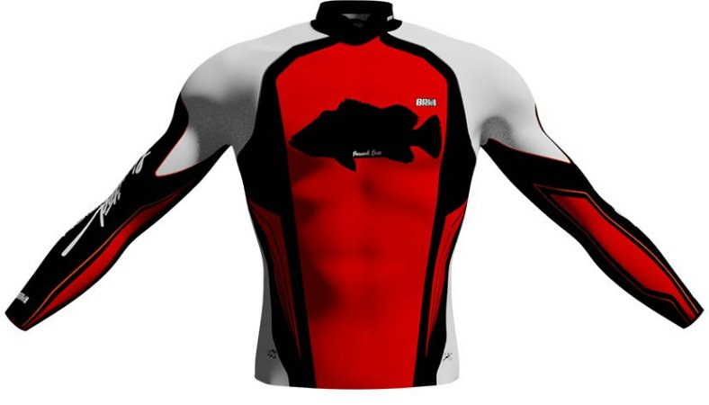 Camisa de Pesca Brk Limited Edition Peacock Bass com fps 50+