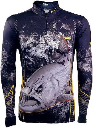 Camisa de Pesca BRK Dourado Black com fps +50