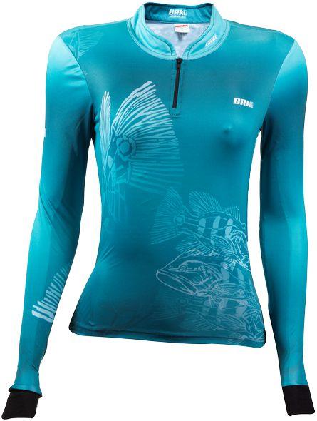 Camisa de Pesca BRK Feminina Tucunaré Underwater com fps +50