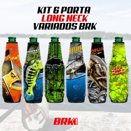 KIT 06 PORTA LONG NECK VARIADOS BRK NEOPRENE 3MM