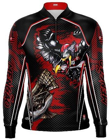 Camisa de Pesca Personalizada Traíra Futebol 12 com fps 50+