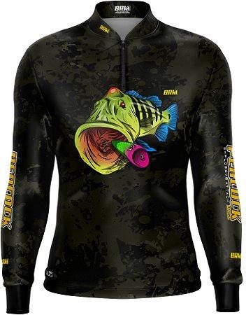 Camisa de Pesca BRK Tucunaré Camuflada 01 com FPU 50+