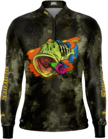 Camisa de Pesca BRK Tucunaré Camuflada 02 com fps 50+