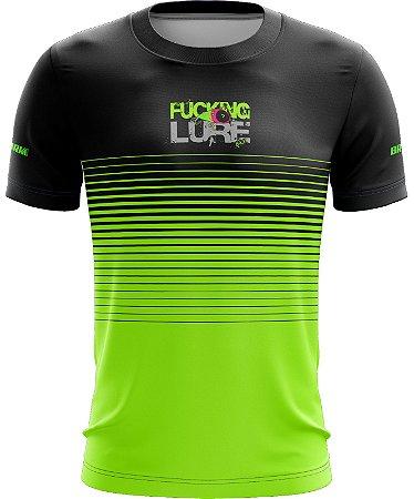 Camiseta Preto com Verde Casual 06 Brk Tecido Dry