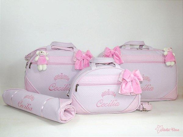 6fa13c08d Kit Bolsa Maternidade BRSP-05024GMP - Personalizado - Ateliê Rose ...