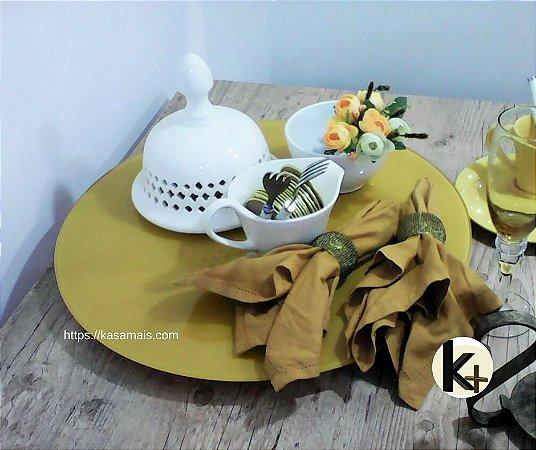 Prato Giratório Mesa - Cor Amarelo - 50cm