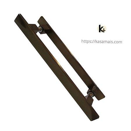 Puxador Quadrato - Cor Bronze Claro - Vários Tamanhos